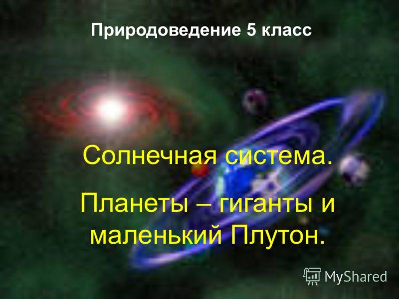 Солнечная система. Планеты – гиганты и маленький Плутон. Природоведение 5 класс