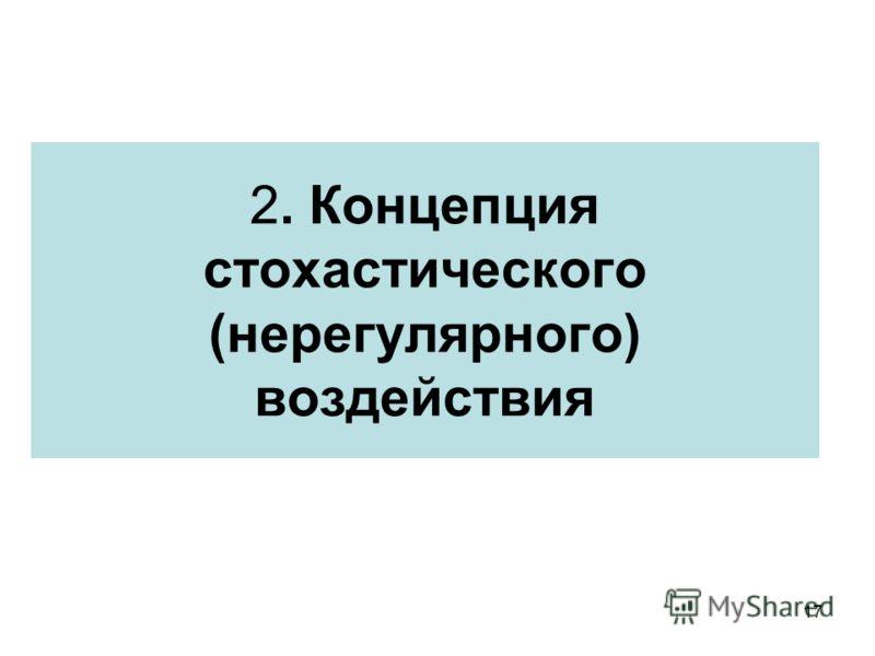 17 2. Концепция стохастического (нерегулярного) воздействия