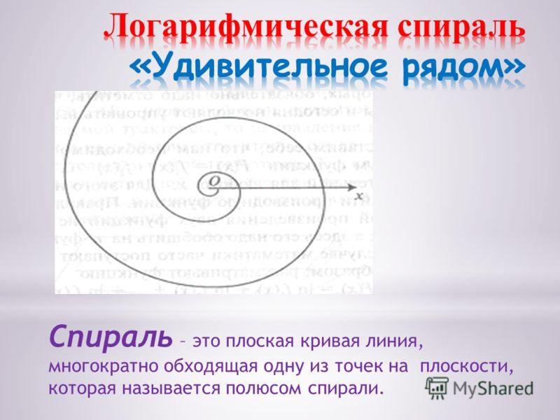 Спираль – это плоская кривая линия, многократно обходящая одну из точек на плоскости, которая называется полюсом спирали.