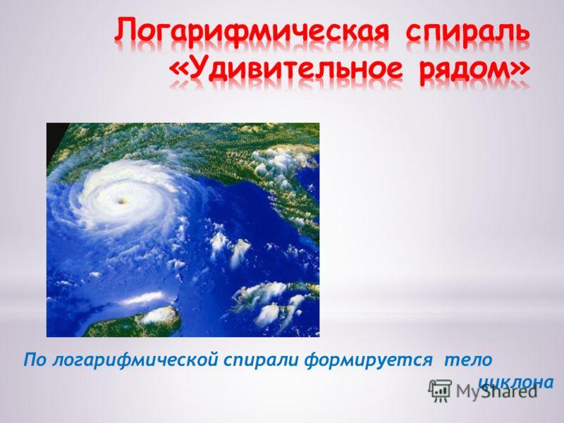 По логарифмической спирали формируется тело циклона