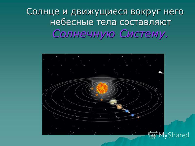 Планеты Солнечной Системы Греческое слово «ПЛАНЕТА» означает «БЛУЖДАЮЩАЯ ЗВЕЗДА». Греческое слово «ПЛАНЕТА» означает «БЛУЖДАЮЩАЯ ЗВЕЗДА». Планеты не занимают определённого места на небе, подобно звёздам, а блуждают среди них. Всё время меняя положени