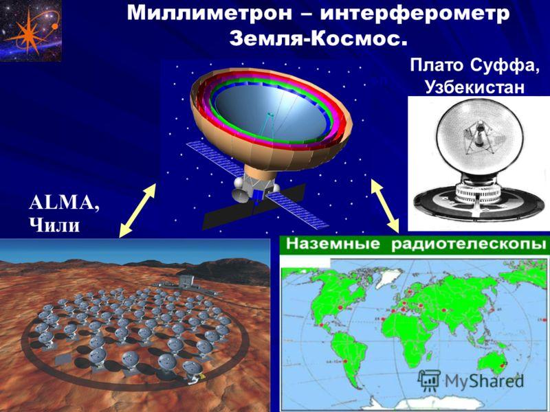 Миллиметрон – интерферометр Земля-Космос. Millimetron ALMA, Чили Плато Суффа, Узбекистан