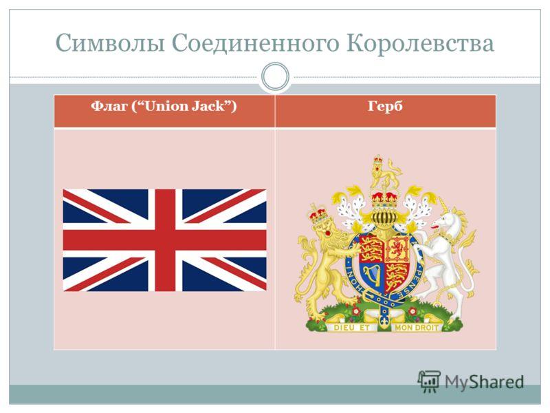 Символы Соединенного Королевства Флаг (Union Jack)Герб