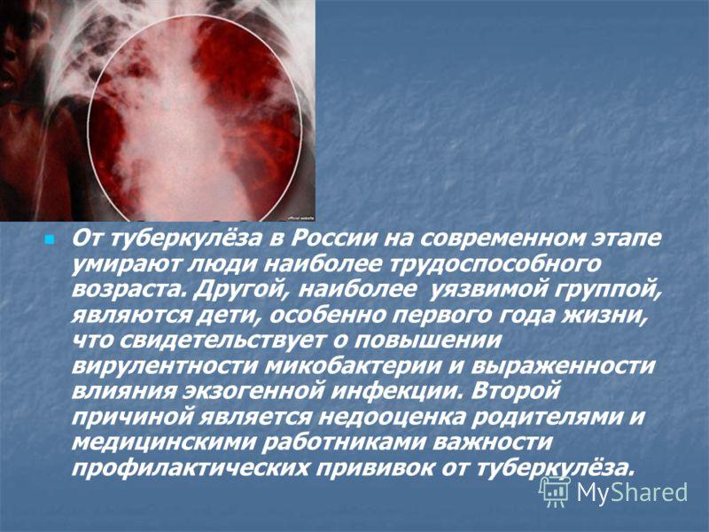 В настоящее время остаётся высокой частота не распознанного туберкулёза на ранних этапах заболевания, что объясняется изменениями, происшедшими в эпидемиологии и клинической картине туберкулёза. Кроме того, снизилась настороженность к этому заболеван