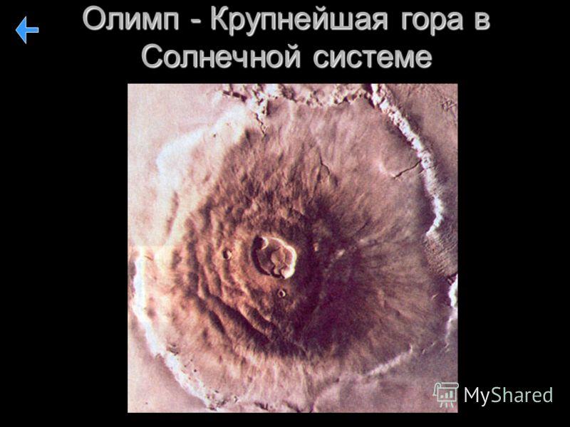 Олимп - Крупнейшая гора в Солнечной системе
