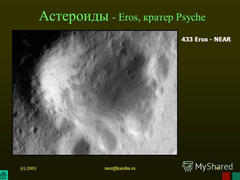 (c) 2001mez@karelia.ru36 Астероиды - Eros, кратер Psyche 433 Eros - NEAR