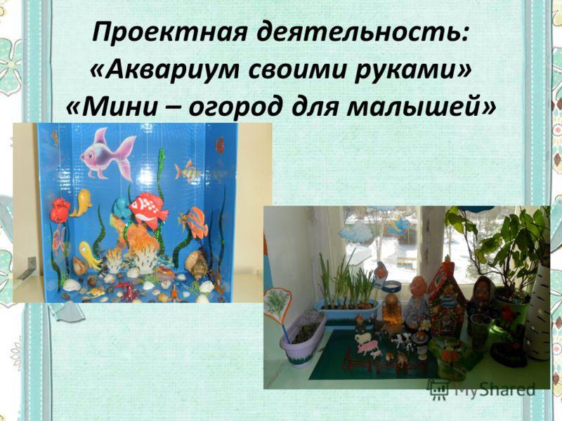 Проектная деятельность: «Аквариум своими руками» «Мини – огород для малышей»
