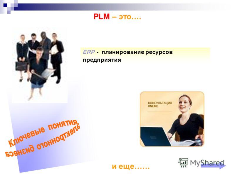 PLМ – это…. ERP - планирование ресурсов предприятия и еще……