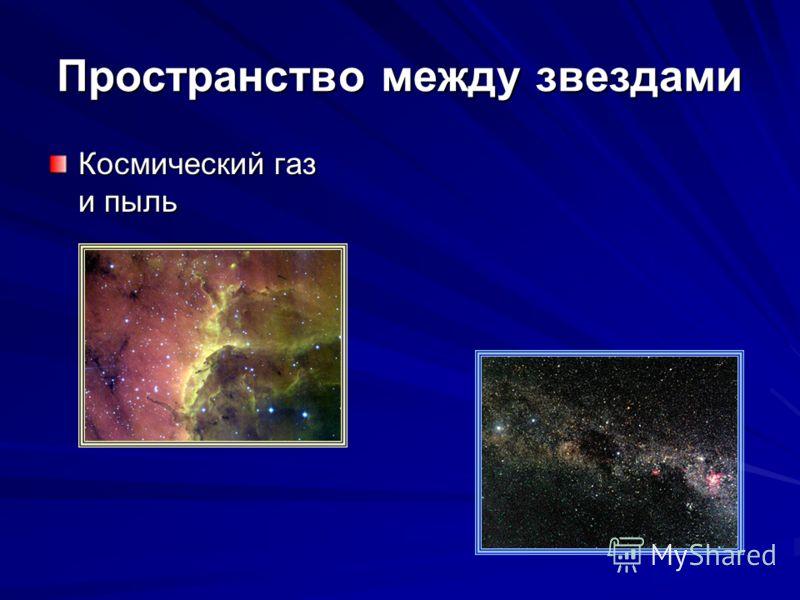 Пространство между звездами Космический газ и пыль