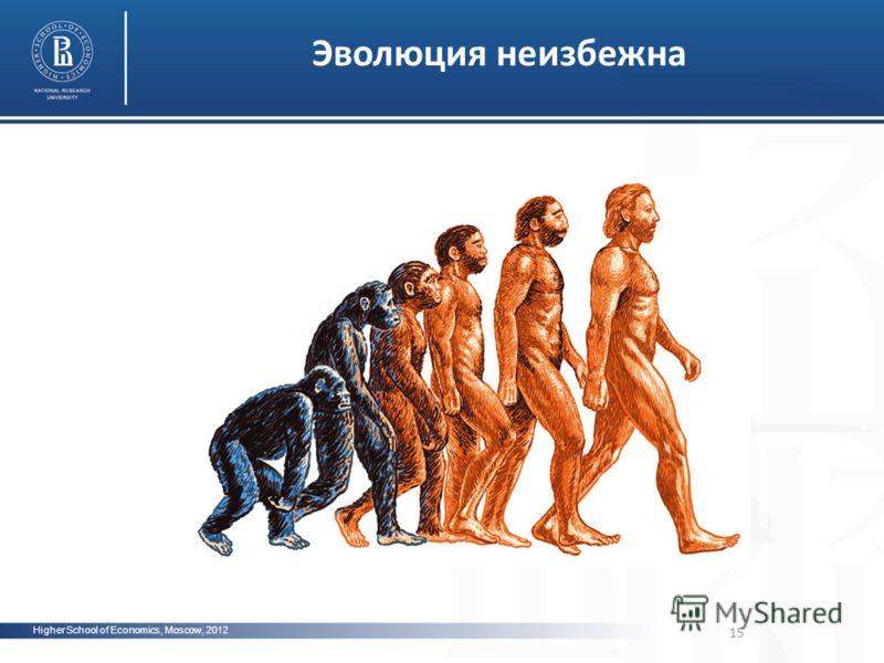 15 Higher School of Economics, Moscow, 2012 Эволюция неизбежна