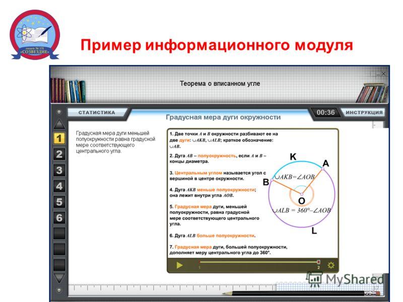 Пример информационного модуля 37