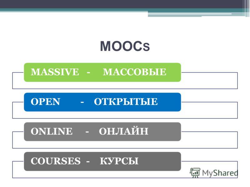 MOOC S MASSIVE - МАССОВЫЕOPEN - ОТКРЫТЫЕONLINE - ОНЛАЙНCOURSES - КУРСЫ