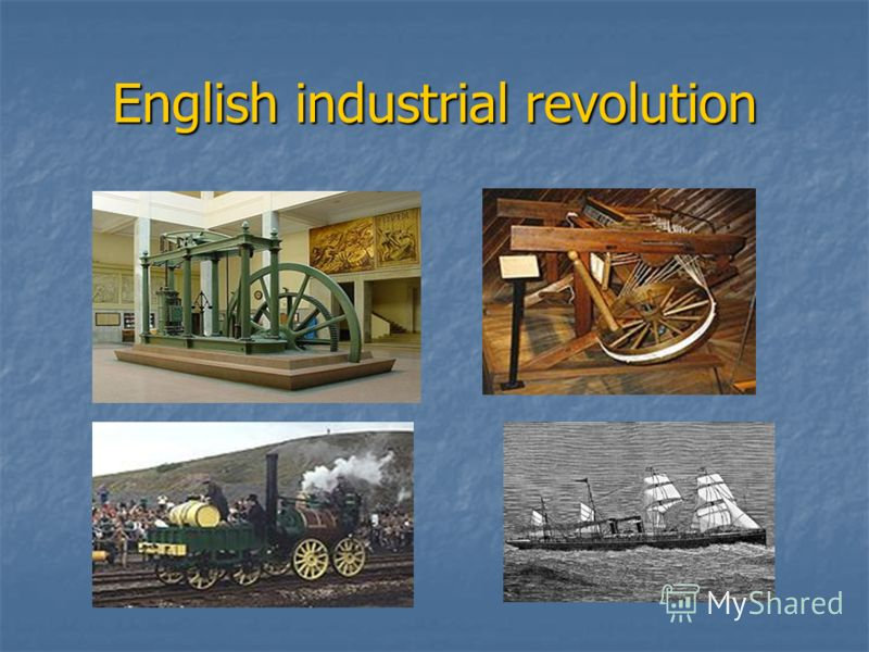 English industrial revolution