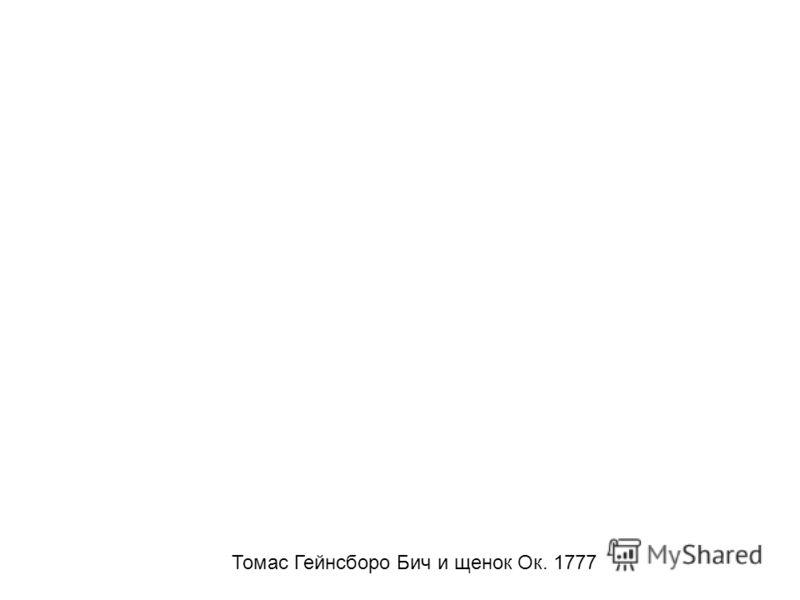 Томас Гейнсборо Бич и щенок Ок. 1777