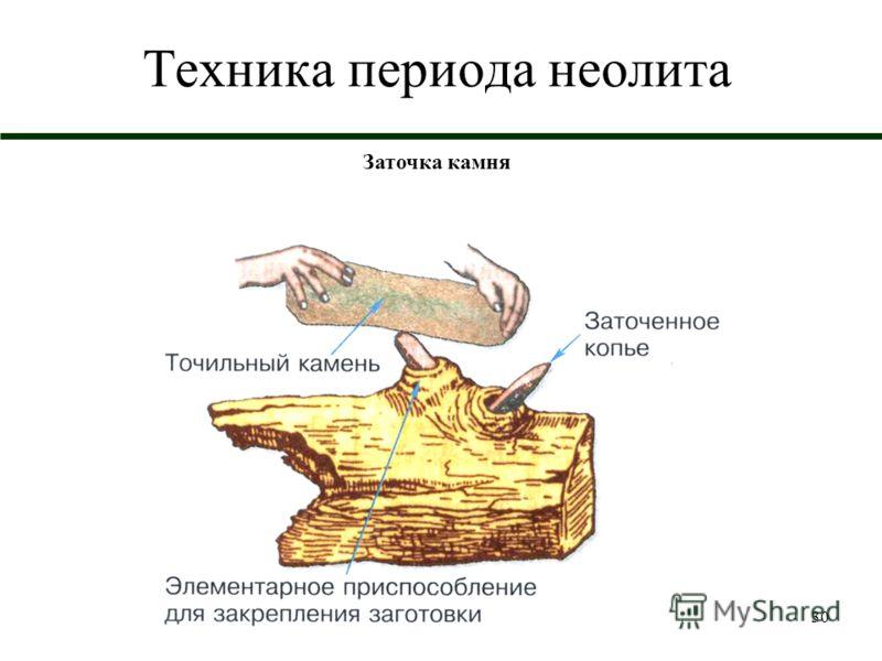 30 Техника периода неолита Заточка камня