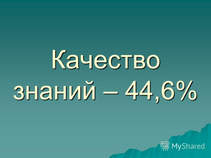 Качество знаний – 44,6%