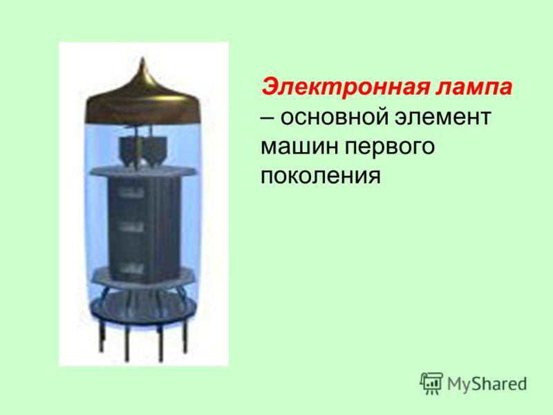 Электронная лампа – основной элемент машин первого поколения