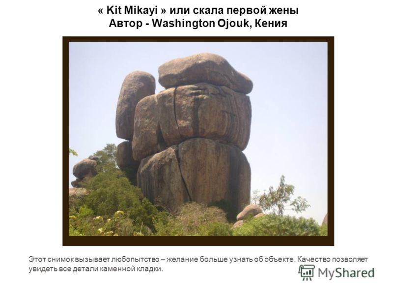 « Kit Mikayi » или скала первой жены Автор - Washington Ojouk, Кения Этот снимок вызывает любопытство – желание больше узнать об объекте. Качество позволяет увидеть все детали каменной кладки.