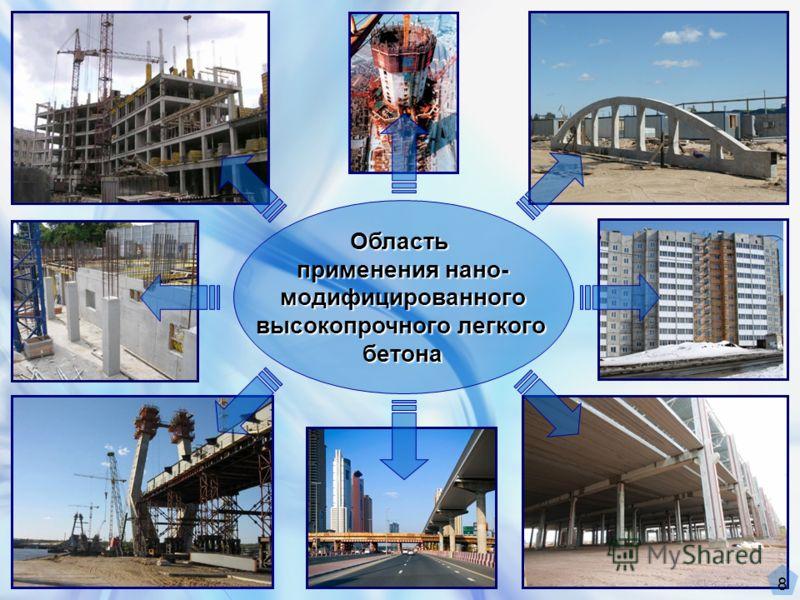 Область применения нано- модифицированного высокопрочного легкого бетона 8