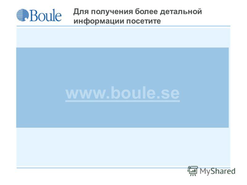 Boule 2008-09-21 Для получения более детальной информации посетите www.boule.se
