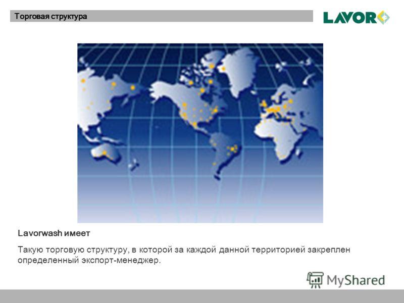 LAVOR OnlineТорговая структура Lavorwash имеет Такую торговую структуру, в которой за каждой данной территорией закреплен определенный экспорт-менеджер.