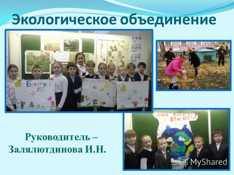 Экологическое объединение Руководитель – Залялютдинова И.Н.