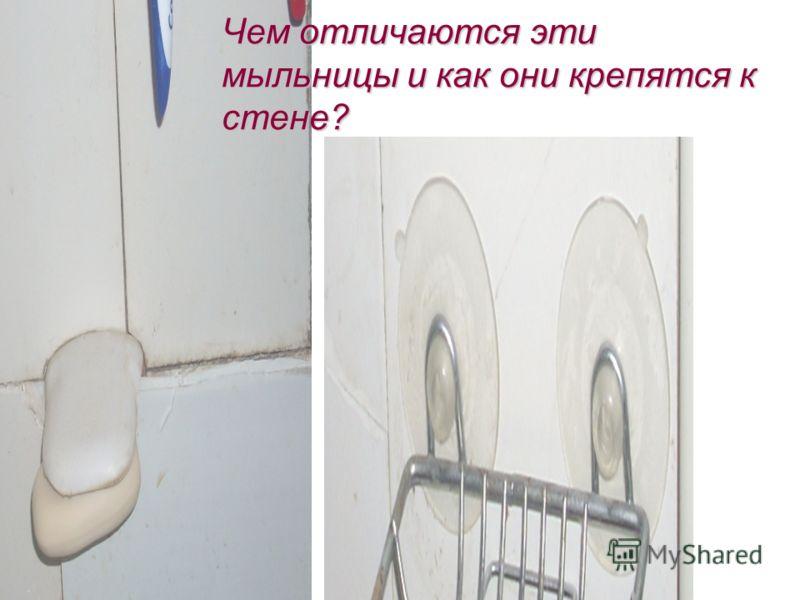 Чем отличаются эти мыльницы и как они крепятся к стене?