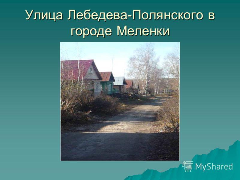 Улица Лебедева-Полянского в городе Меленки