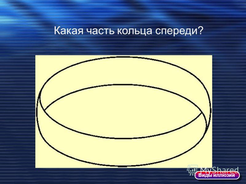 Какая часть кольца спереди? Виды иллюзий