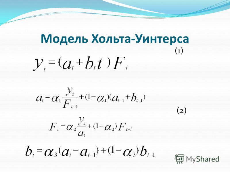Модель Хольта-Уинтерса (1) (2)