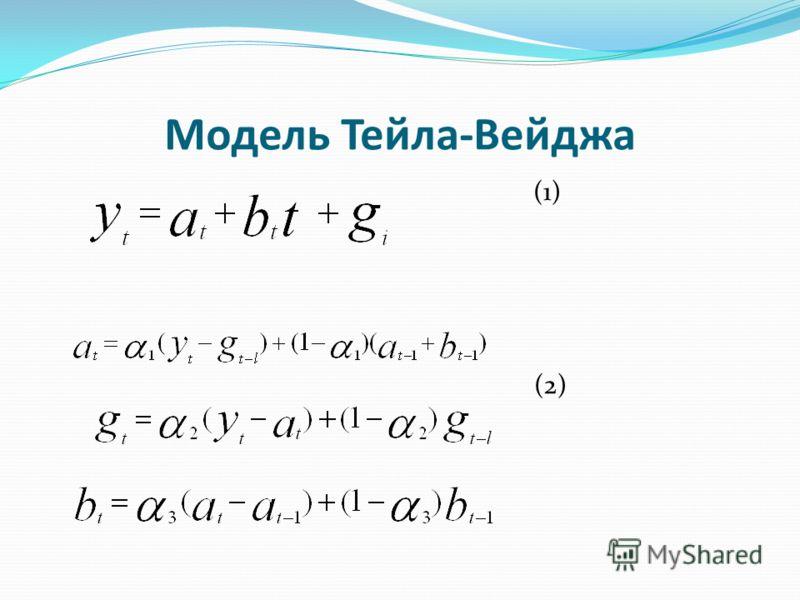 Модель Тейла-Вейджа (1) (2)
