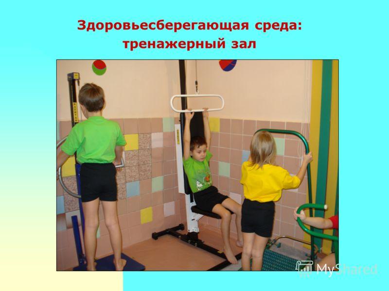 Здоровьесберегающая среда: тренажерный зал