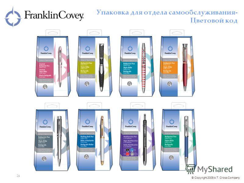 © Copyright 2009 A.T. Cross Company 24 Упаковка для отдела самообслуживания- Цветовой код