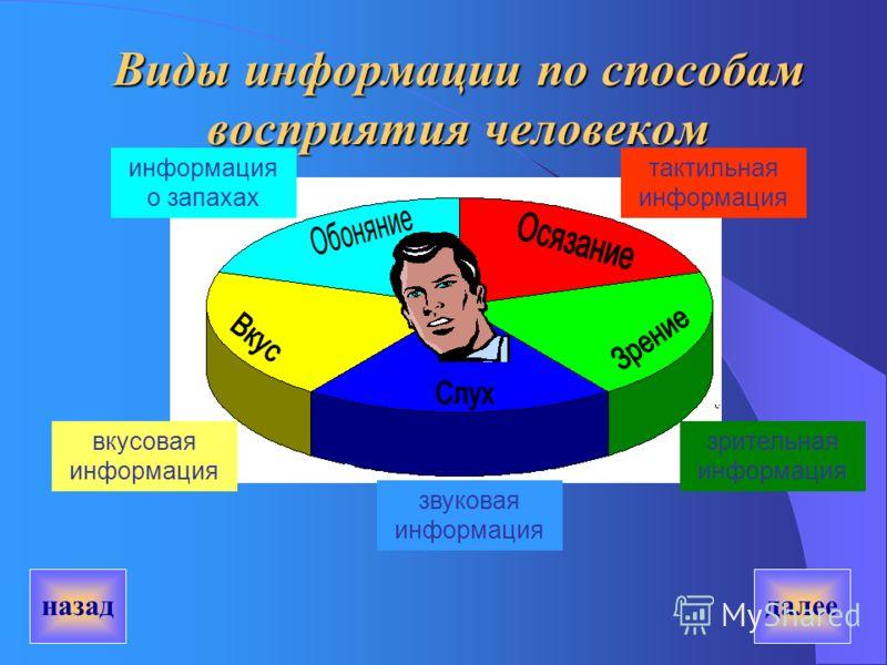 Информация – это сведения о предметах, объектах, событиях, фактах, процессах и явлениях окружающего мира. далее назад