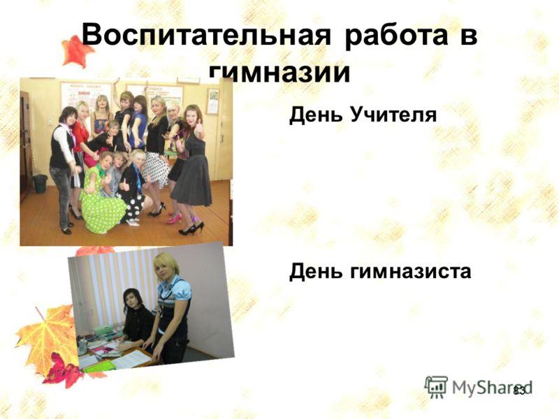 83 Воспитательная работа в гимназии День Учителя День гимназиста