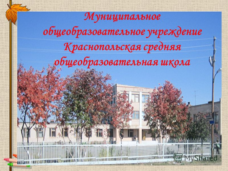 Муниципальное общеобразовательное учреждение Краснопольская средняя общеобразовательная школа