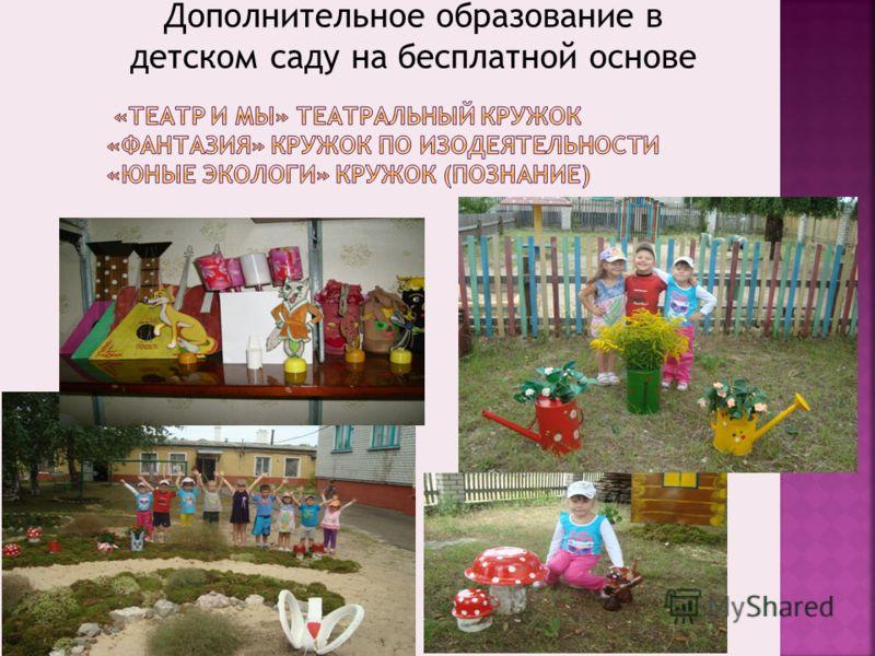 Дополнительное образование в детском саду на бесплатной основе