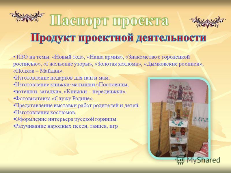 знакомство с городецкой росписью для дошкольников