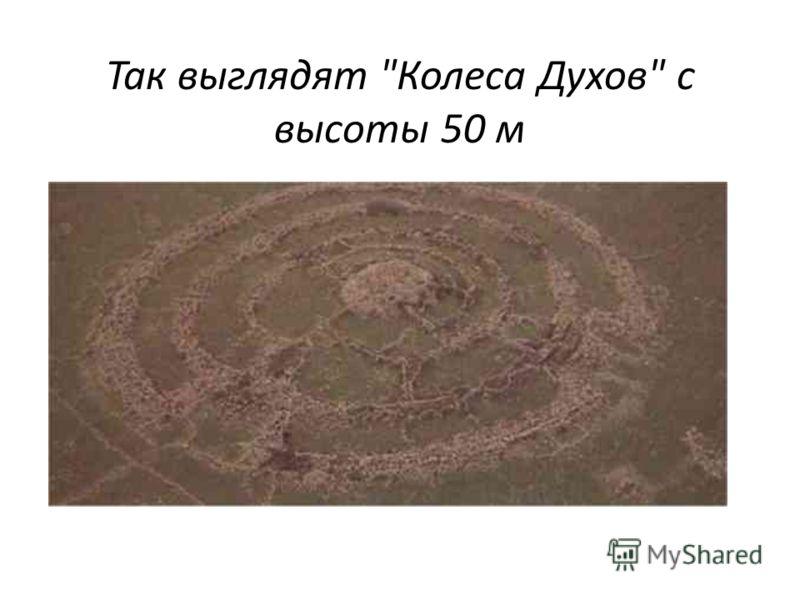 Так выглядят Колеса Духов с высоты 50 м