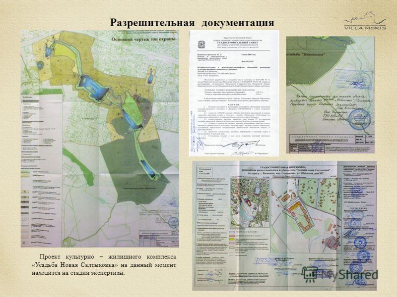 Проект культурно – жилищного комплекса «Усадьба Новая Салтыковка» на данный момент находится на стадии экспертизы.