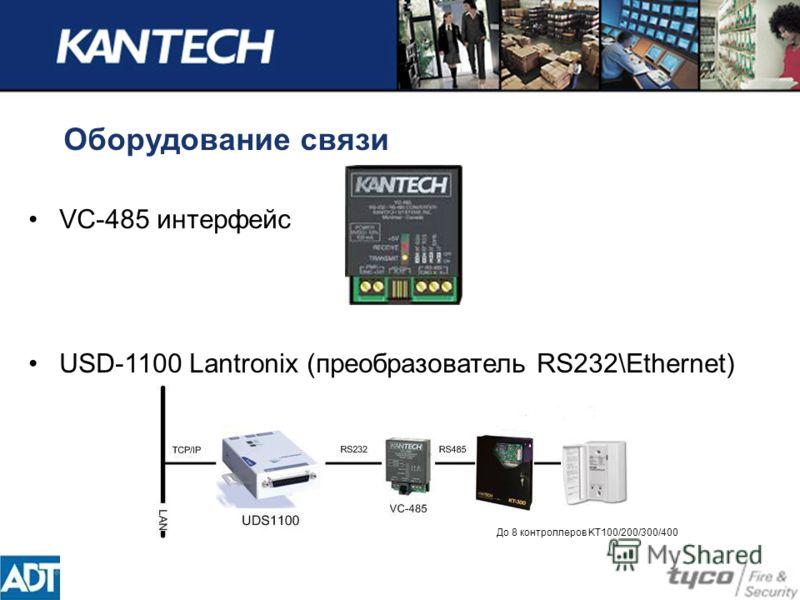 Оборудование связи VC-485 интерфейс USD-1100 Lantronix (преобразователь RS232\Ethernet) До 8 контроллеров KT100/200/300/400