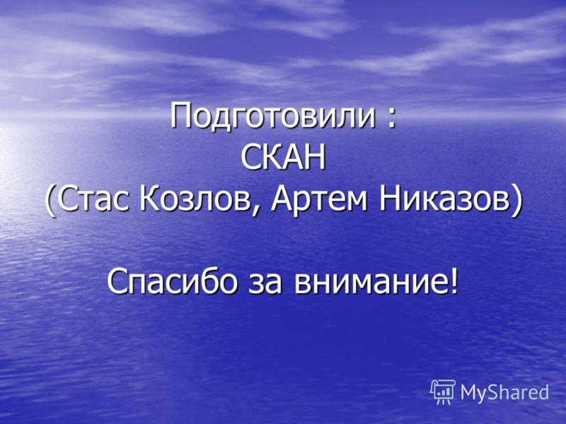 Подготовили : СКАН (Стас Козлов, Артем Никазов) Спасибо за внимание!