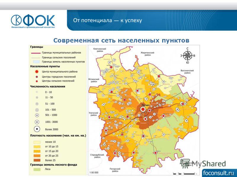 30 Современная сеть населенных пунктов