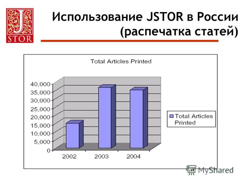 Использование JSTOR в России (распечатка статей)