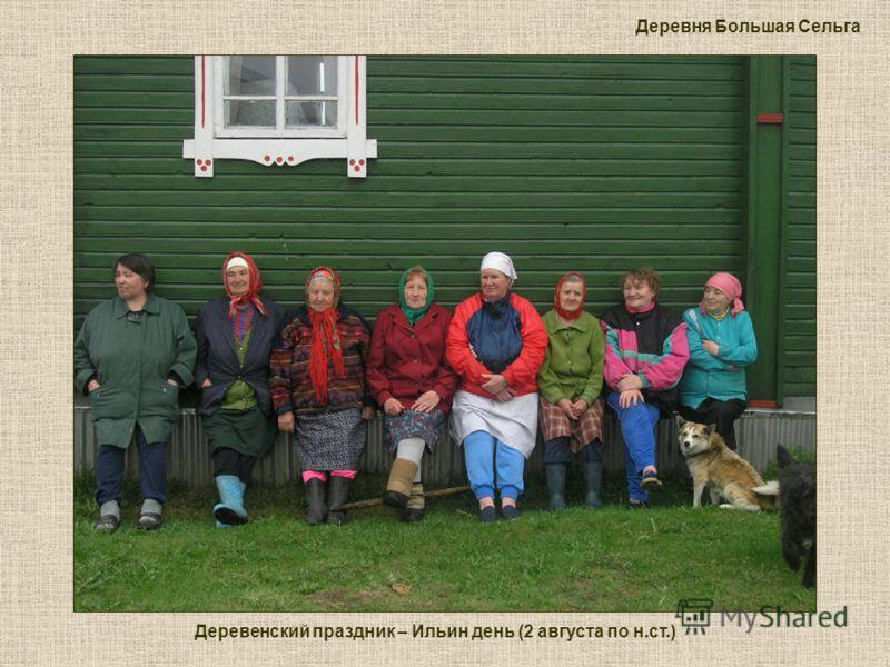 Деревенский праздник – Ильин день (2 августа по н.ст.) Деревня Большая Сельга
