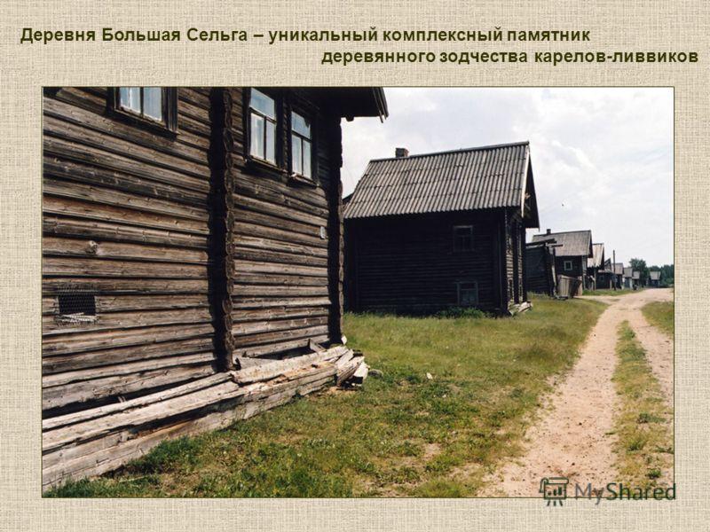 Деревня Большая Сельга – уникальный комплексный памятник деревянного зодчества карелов-ливвиков
