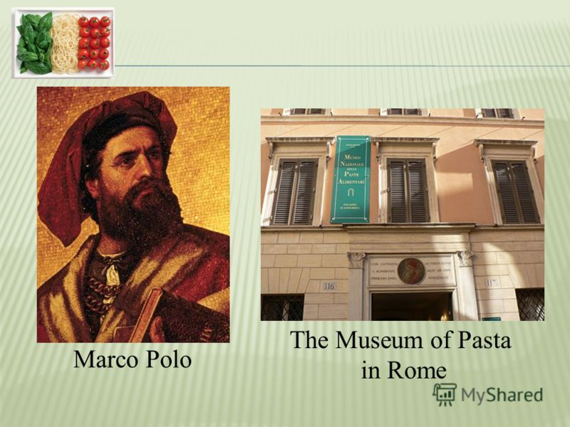 Marco Polo The Museum of Pasta in Rome