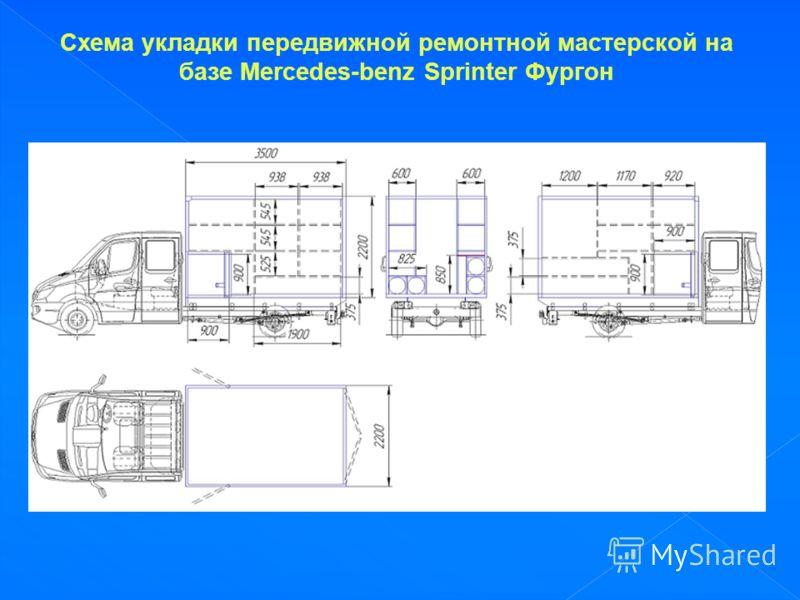 Схема укладки передвижной ремонтной мастерской на базе Mercedes-benz Sprinter Фургон