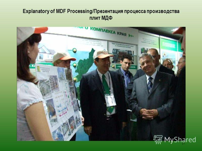 17 Explanatory of MDF Processing/Презентация процесса производства плит МДФ