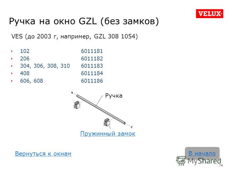 Ручка на окно GZL (без замков) VES (до 2003 г, например, GZL 308 1054) 1026011181 2066011182 304, 306, 308, 3106011183 4086011184 606, 6086011186 74 В начало Ручка Пружинный замок Вернуться к окнам